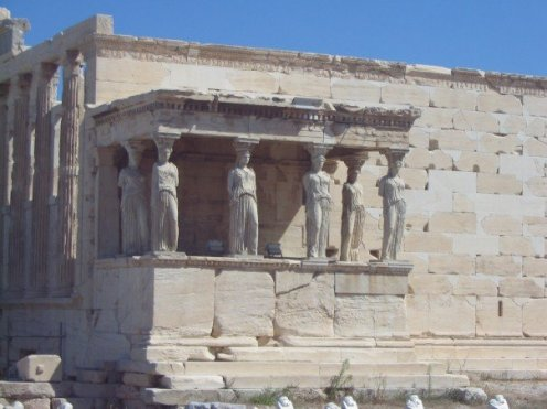 The Erechtheion on the Acropolis (North side of the Acropolis)