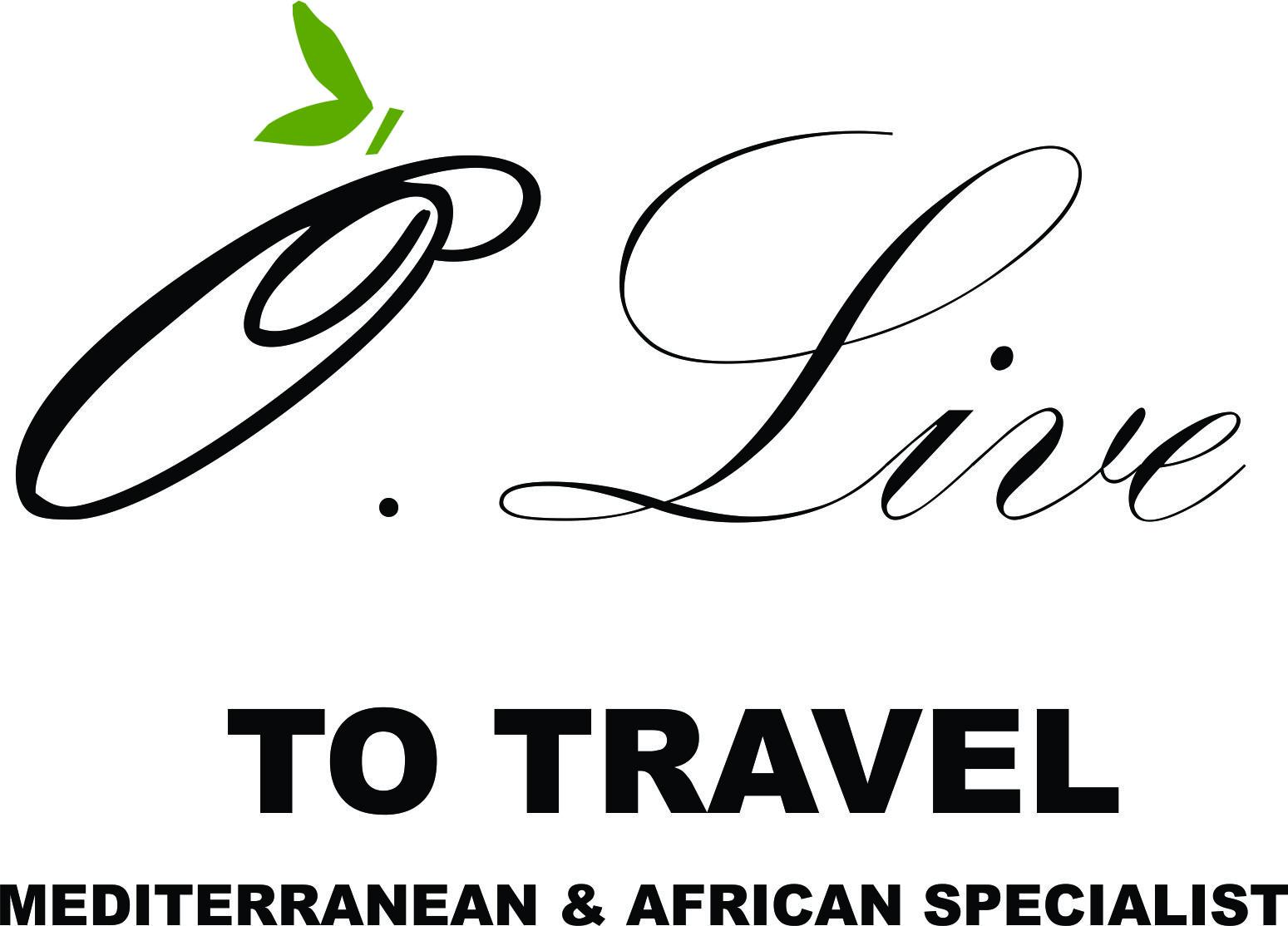O Live to travel mediterranean & african Specialist logo - thin